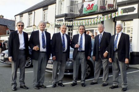 65.Jeff, John, Dave, John, Alan and David at the Queens Hotel Cefn Mawr for their