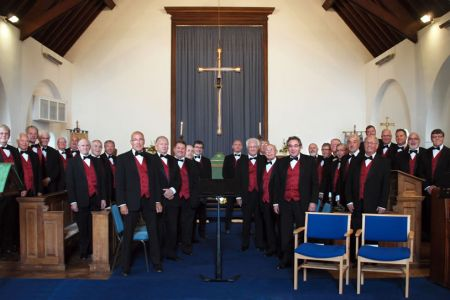 67.Choir at St Margaret's Church, Garden Village, Wrexham for the marriage of Matthew (2nd Bass) to Olawunmi - 30th July