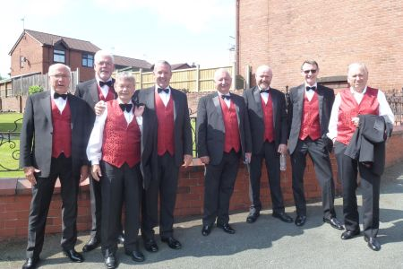 14A. The choir start to arrive at the wedding of Chris and Bethan Wycherley at Bethel chapel Ponciau