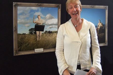 42.Ann Atkinson with her Calendar Page at the launch of the Help the Aged Charity Calendar