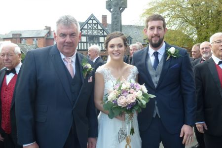 09D. Bride and Groom with proud father David Preston 1st Bass
