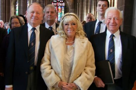 70.Cyril and Dulyn with Julie Goodyear MBE (Bet Lynch)