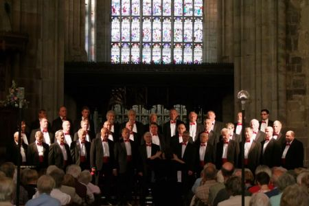 50.Choir performing in St Laurence Church Ludlow