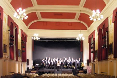 01.Practice for the concert in the Alington Hall at Shrewsbury School, 2nd of February