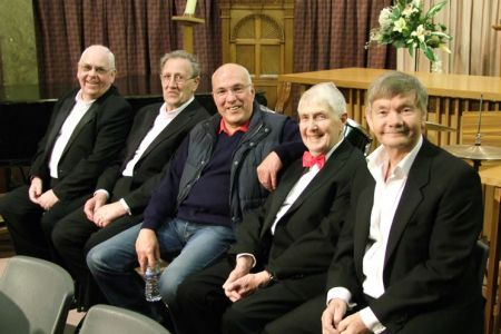 25.John, Gren, Dave, Malcolm and Allan at All Saints Church in Wellington, Shropshire - 10th May