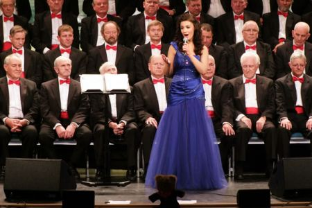 Margaret Keys with the Choir at the New Brighton  Floral Pavilion as Guest Artiste
