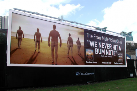 The advertising banner that brought the London rush hour traffic to a standstill on South Lambeth Road