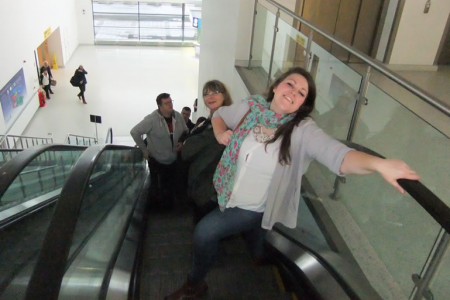 The escalator Queen