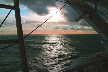 A beautiful crossing of the Irish sea despite the severe weather warnings!
