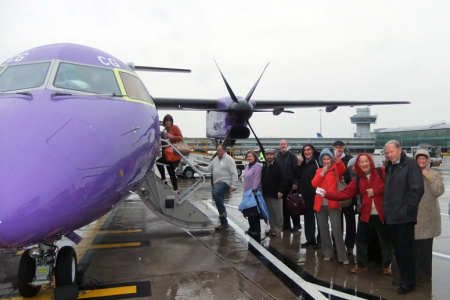 All aboard the BE1033G to Aberdeen in the rain
