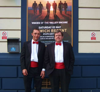 Mark and Dave  at the Ipswich Regent - 3rd of May