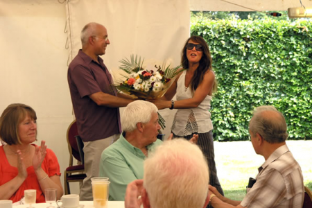 Presentation to our Choir President and host Louise Parker