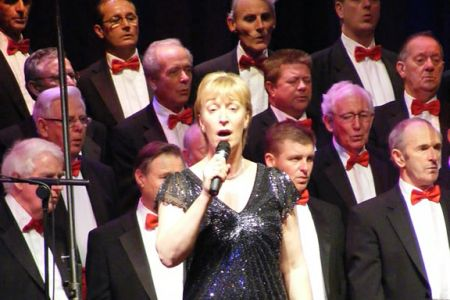 62.Ann performing How Great Thou Art with the Choir - 21st November - Wrexham