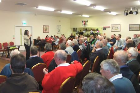 58.Rehearsal in the Cefn Druids Club House in Rhosymedre as part of a recruiting drive - 21st October