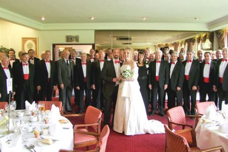 50.David Rogers-Hughes (1st tenor) son's wedding at the Bryn Howel Hotel Llangollen - 4th September