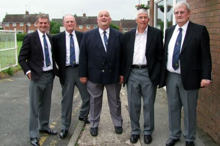 17.Wyn, Geoff, Paul, Barry and John at Llay Royal British Legion Club for the Choir's Annual Charity Concert - 14th June
