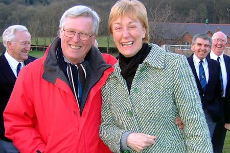 06.BBC Country File presenter John Craven with Ann Atkinson The BBC programme feature on the Tanat Valley was broadcast on Sunday the 11th of February and featured an item about the tradition of Male Voice singing in Wales.