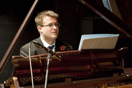 Jason at the Theatr Hafren piano for the second of the Choir's Autumn Tour Concerts - 5th November