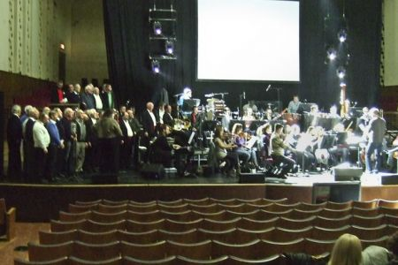 Rehearsal with Alfie Boe at the Liverpool Philharmonic 14th December