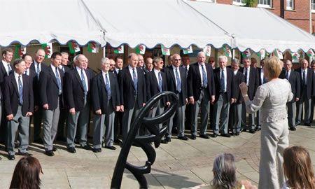 53.Twinning Celebratory Day in Queen's Square, Wrexham, to celebrate the twinning agreements between Wrexham (Wales), Märkischer Kreis (Germany), and Racibórz (Poland).
