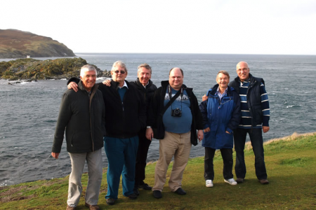 The Likely Lads at the Calf of Man viewing point