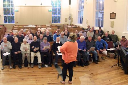 24.Rehearsal at the Black Park Chapel whilst Acrefair School Hall is repaired - 26th April