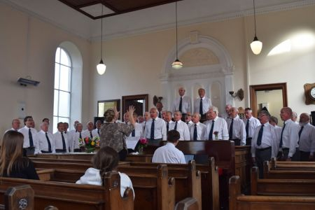 70th anniversary concert in Seion chapel  in Froncysyllte, Where the first meeting of the choir took place and the first concert was performed
