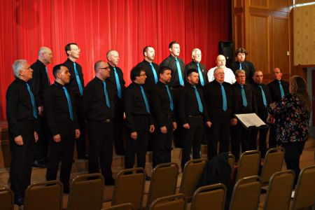44.Wrexham Charity Choir rehearse for their