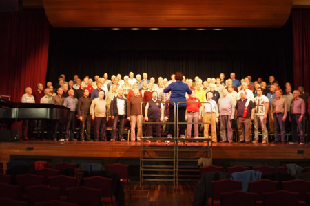 Rehearsal with the Glen Moray Male Voice Choir in Elgin Town Hall