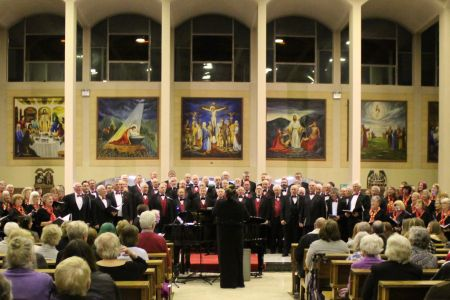 04B. The Fron and the Merseywave choirs perform a joint piece at St Ambrose church 22/02/19