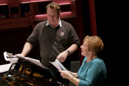 68.Aled at the piano with Alwena Nutting. Alwena was our accompanist from 1999 until retiring in 2008.