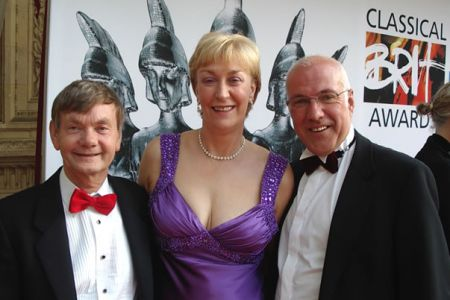 21.Allan, Ann and Dave on the Red Carpet at the Classical Brits 2008 Voices of the Valley - Encore was nominated for the NS&I Album of the Year