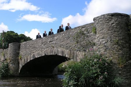 On the bridge at Llanfair Talhaiarn.