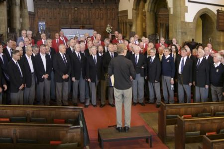 28.Joint practice for the Haydock MVC Annual Celebrity Concert in St Helens Parish Church - 8th May