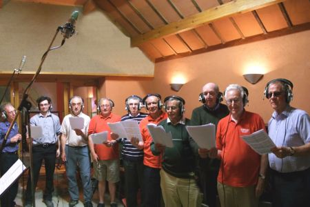 16.Bass at the Foel Studio near Llanfair Caereinion to record a track for Russell Watson's new album