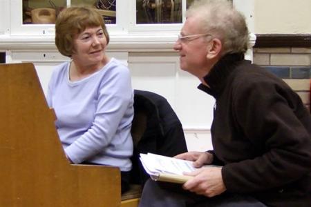 Alwenna and Owen in rehearsal