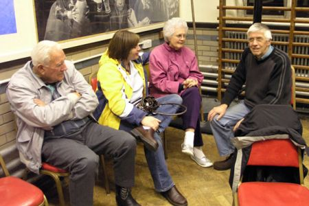 16.Barry Clark chatting to the Kamps family from Gallup, New Mexico, visiting on the 27th March.