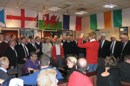 Singing after our Supper at the Hereford Welsh Club