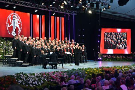 46.The Choir in action in Llangollen.