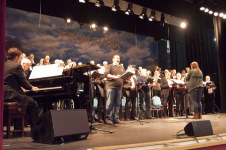 67.Rehearsal with Aled Wyn Davies for a joint performance of Holy Night - New Brighton Floral Pavilion - 4th December.