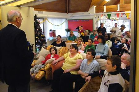74.Concert of Carols for an appreciative audience in Hope House Childrens Hospice near Oswestry