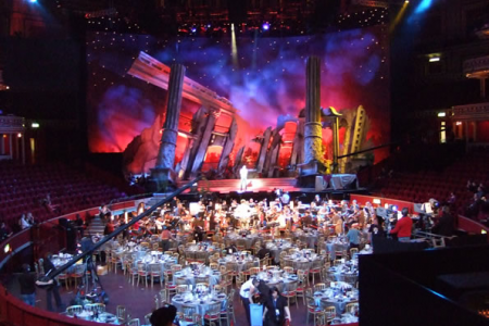A really spectacular set and venue