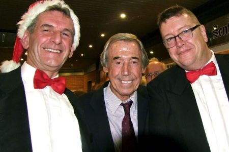 98.Wyn and Paul with Gordon Banks at the New Vic Afterglow