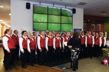 88.In the TNS Clubhouse at half time to entertain Afterglow Style - 2nd November