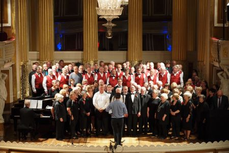 51.Practice with Mersey Wave and Wrexham Charity Choirs in St George's Hall Liverpool for the Royal British Legion The Somme & Beyond concert - 1st July