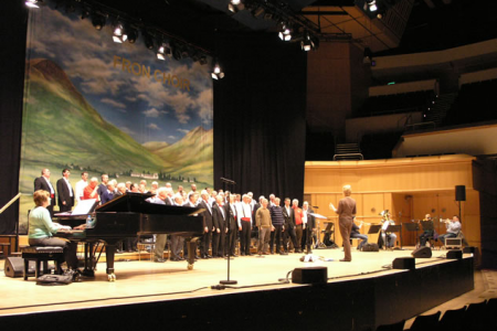 Practice at the Glasgow Royal Concert Hall - 13 April