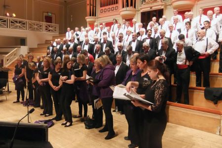 66.Rehearsal with Leicester City MVC and the Chilwell Military Wives Choir in the De Montford Hall for a concert in aid of the LOROS Hospice - 10th October