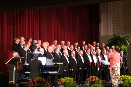 62.On stage and in Competiton at the Isle of Man Festival of Choirs - our first competition since 2006 and we came second out of five.
