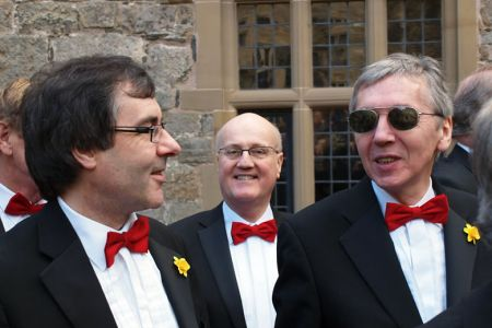10.Phil Wilkinson (centre) with Jez and Jeff on his first performance with the Choir as a full Member