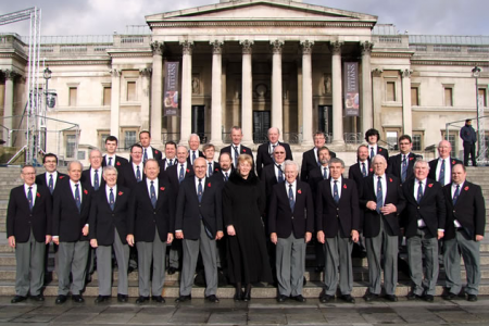 01.The Choir on the steps of the National Portrait Gallery